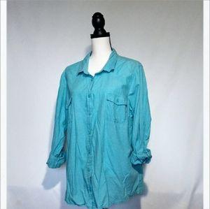 Faded Glory Light Blue Long Sleeve shirt
